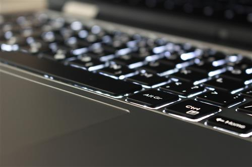 Close up on illuminated keyboard #2