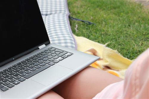 Relax with laptop